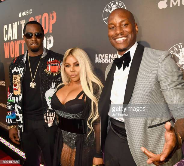 Sean 'Diddy' Combs Lil' Kim and Tyrese Gibson attend the Los Angeles Premiere of Apple Music's CAN'T STOP WON'T STOP A BAD BOY STORY at The WGA...