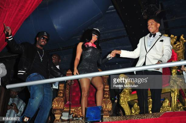 Sean 'Diddy' Combs Nicki Minaj and Justin Dior Combs attend JUSTIN DIOR COMBS celebrates Sweet Sixteenth Birthday at M2 Ultra Lounge on January 23...