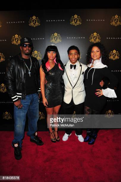 Sean 'Diddy' Combs Nicki Minaj Justin Dior Combs and Misa HyltonBrim attend JUSTIN DIOR COMBS celebrates Sweet Sixteenth Birthday at M2 Ultra Lounge...