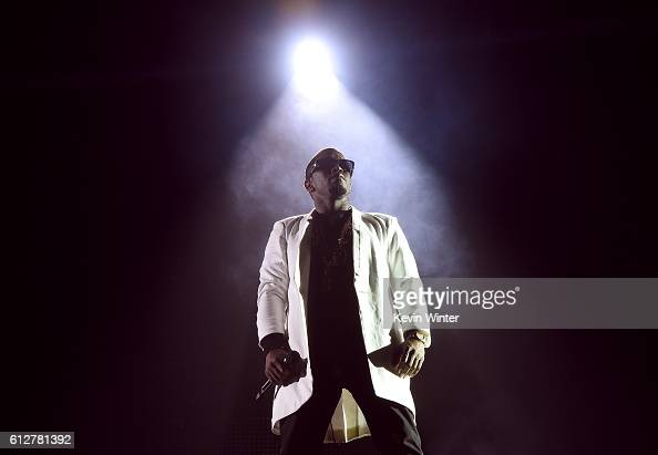 Sean 'Diddy' Combs performs onstage during the Bad Boy Family Reunion Tour at The Forum on October 4 2016 in Inglewood California