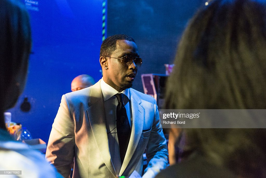 Sean 'Diddy' Combs prepares backstage at the Palais des Festivals as he attends the 'Culture as a Creative Catalyst' Seminar during the 60th Cannes Lions International Festival of Creativity on June 19, 2013 in Cannes, France.