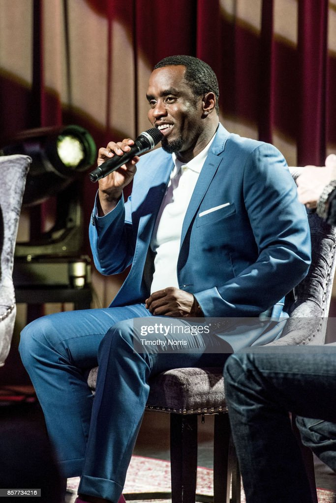 Sean 'Diddy' Combs speaks during Reel To Reel: Cant Stop Won't Stop: A Bad Boy Story at The GRAMMY Museum on October 4, 2017 in Los Angeles, California.