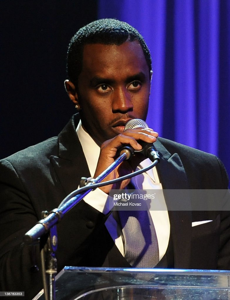 Sean 'Diddy' Combs speaks onstage at Clive Davis And The Recording Academy's 2012 Pre-GRAMMY Gala And Salute To Industry Icons Honoring Richard Branson at The Beverly Hilton hotel on February 11, 2012 in Beverly Hills, California.