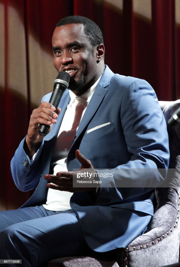 Sean 'Diddy' Combs speaks onstage at Reel To Reel: Cant Stop Won't Stop: A Bad Boy Story at The GRAMMY Museum on October 4, 2017 in Los Angeles, California.
