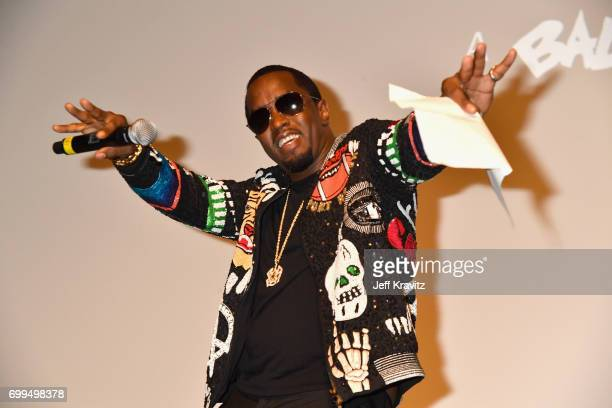 Sean 'Diddy' Combs speaks onstage at the Los Angeles Premiere of Apple Music's CAN'T STOP WON'T STOP A BAD BOY STORY at The WGA Theater on June 21...