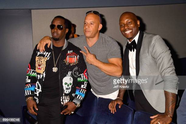 Sean 'Diddy' Combs Vin Diesel and Tyrese Gibson attend the Los Angeles Premiere of Apple Music's CAN'T STOP WON'T STOP A BAD BOY STORY at The WGA...