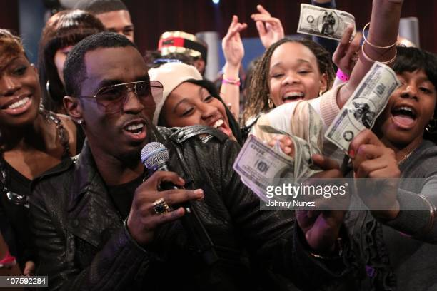 Sean 'Diddy' Combs visits BET's '106 Park' at BET Studios on December 13 2010 in New York City