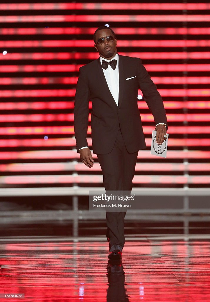 Sean 'Diddy' Combs walks onstage at The 2013 ESPY Awards at Nokia Theatre L.A. Live on July 17, 2013 in Los Angeles, California.