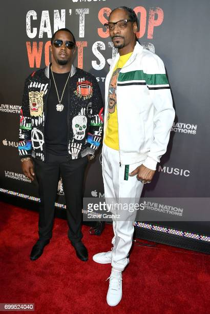 Sean 'Diddy' CombsSnoop Dogg arrives at the Los Angeles Premiere Of 'Can't Stop Won't Stop' at Writers Guild of America West on June 21 2017 in Los...
