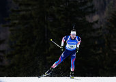 Sean Doherty of the USA in action during the IBU Biathlon World Cup Men's Relay on January 15 2015 in Ruhpolding Germany