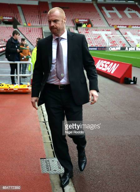 Sean Dyche Manager of Burnley arrives at the stadium prior to the Premier League match between Sunderland and Burnley at Stadium of Light on March 18...
