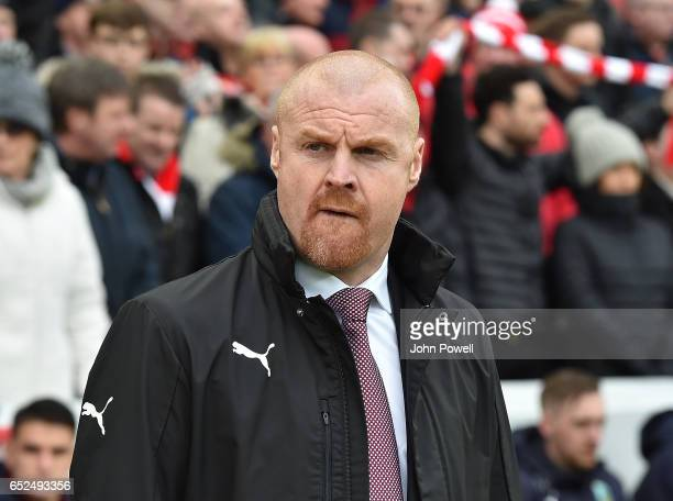 Sean Dyche Manager of Burnley during the Premier League match between Liverpool and Burnley at Anfield on March 12 2017 in Liverpool England