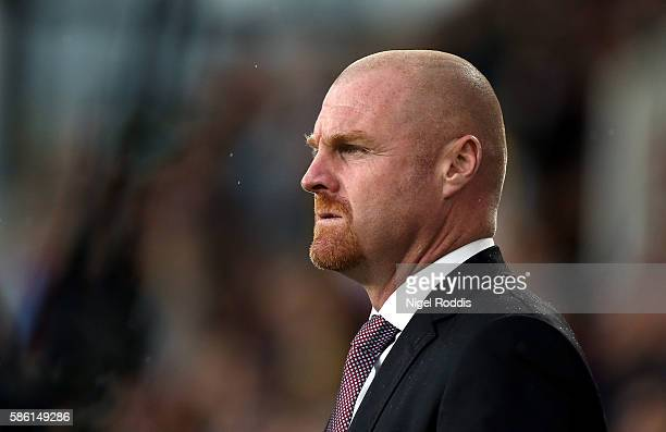 Sean Dyche manager of Burnley during the PreSeason Friendly match between Burnley and Real Sociedad at Turf Moor on August 5 2016 in Burnley England