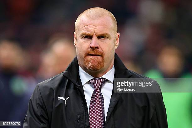 Sean Dyche Manager of Burnley looks on during the Premier League match between Stoke City and Burnley at Bet365 Stadium on December 3 2016 in Stoke...