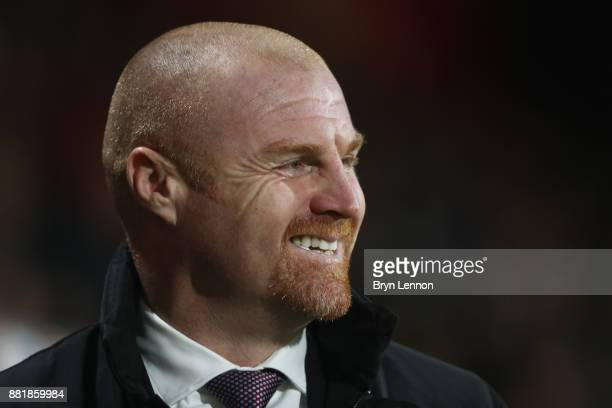 Sean Dyche Manager of Burnley looks on prior to the Premier League match between AFC Bournemouth and Burnley at Vitality Stadium on November 29 2017...