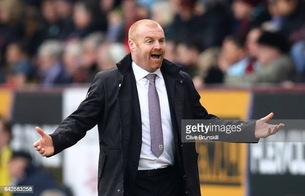 Sean Dyche Manager of Burnley reacts during The Emirates FA Cup Fifth Round match between Burnley and Lincoln City at Turf Moor on February 18 2017...