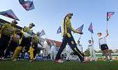 Sean Ervine Hampshire captain leads his team out during the NatWest T20 Blast match between Kent and Hampshire at The Spitfire Ground on June 8 2016...