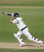 Sean Ervine of Hampshire hits out during the LV County Championship match between Hampshire and Yorkshire on May 26 2010 in Southampton England