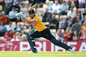 Sean Ervine of Hampshire hits out during the Natwest T20 Blast match between Hampshire and Somerset at the Ageas Bowl on July 6 2014 in Southampton...