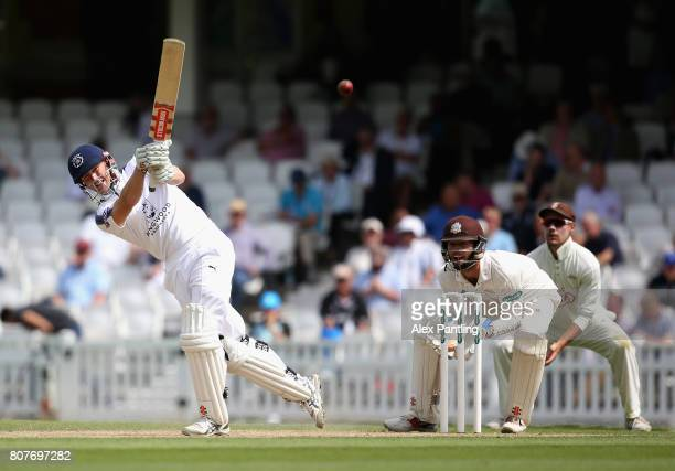 Sean Ervine of Hampshire in action during day two of the Specsavers County Championship Division One match between Surrey and Hampshire at The Kia...