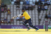 Sean Ervine of Hampshire plays to the offside during the NatWest T20 Blast match between Hampshire and Middlesex at the Ageas Bowl on June 4 2015 in...