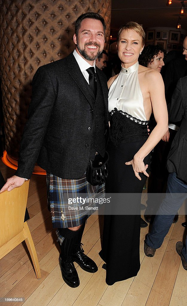 Sean Flanigan (L) and Robin Wright attend an after party celebrating the Red Carpet Premiere of the Netflix original series 'House of Cards' at Asia de Cuba, St Martins Lane Hotel, on January 17, 2013 in London, England.