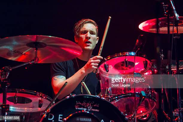 Sean Friday of Dead Sara performs at Joe Louis Arena on March 2 2013 in Detroit Michigan