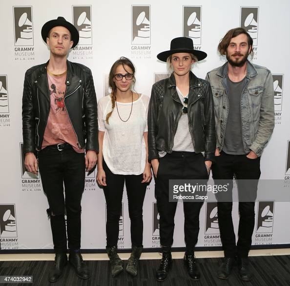 Sean Friday Siouxsie Medley Emily Armstrong and Chris Null of Dead Sara attend Homegrown Dead Sara at The GRAMMY Museum on May 19 2015 in Los Angeles...