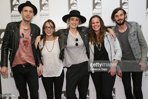 Sean Friday Siouxsie Medley Emily Armstrong and Chris Null of Dead Sara with GRAMMY Museum Communications Manager Crystal Larsen at Homegrown Dead...