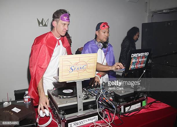 Sean G and Drewbyrd spin Slim Jxmmi Of Rae Sremmurd 25th Birthday Bash at Think Tank Gallery on December 28 2016 in Los Angeles California