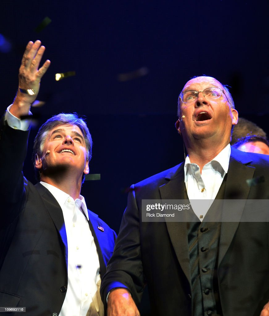 Sean Hannity and Honoree Neal Boortz attend The Boortz Happy Ending at The Fox Theater on January 12, 2013 in Atlanta, Georgia.