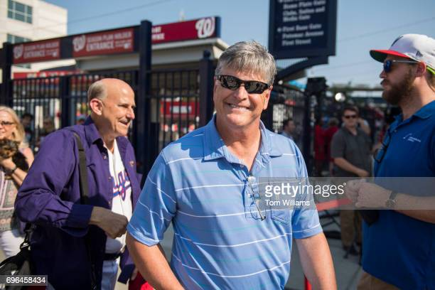 Sean Hannity center and Rep Louie Gohmert RTexas arrive for the 56th Congressional Baseball Game at Nationals Park on June 15 2017
