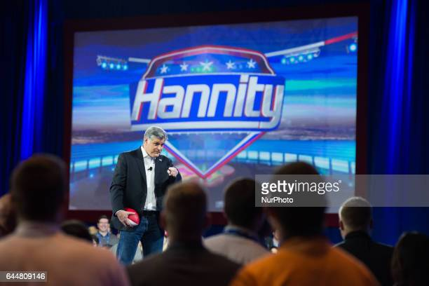 Sean Hannity during the Conservative Political Action Conference at the Gaylord National Resort and Convention Center February 23 2017 in National...