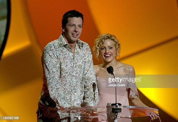 Sean Hayes and Brittany Murphy during The 2004 Teen Choice Awards Show at Universal Amphitheatre in Universal City California United States