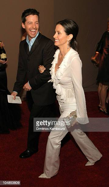 Sean Hayes and Courteney Cox Arquette during Ninth Annual Screen Actors Guild Awards Backstage and Audience at The Shrine Auditorium in Los Angeles...