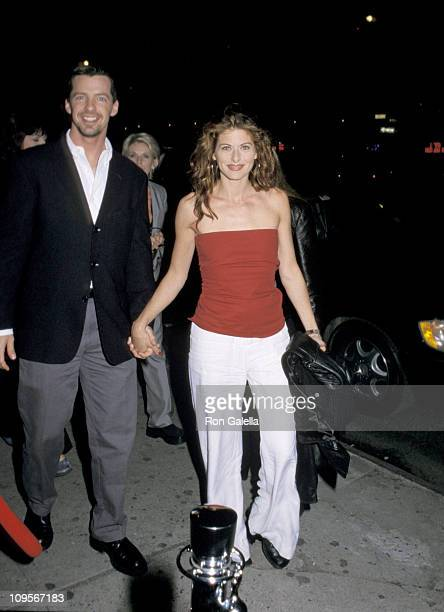 Sean Hayes and Debra Messing during NBC Primetime Upfront Party May 15 2000 at Ruby Foo's in New York City New York United States