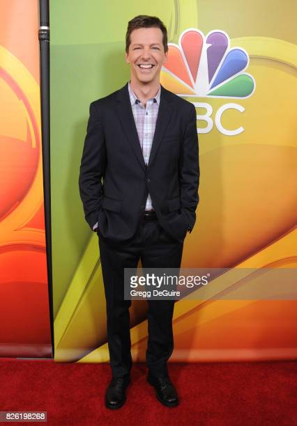 Sean Hayes arrives at the 2017 Summer TCA Tour NBC Press Tour at The Beverly Hilton Hotel on August 3 2017 in Beverly Hills California
