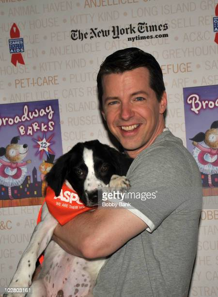Sean Hayes attends the 12th Annual Broadway Barks in Shubert Alley on July 10 2010 in New York City