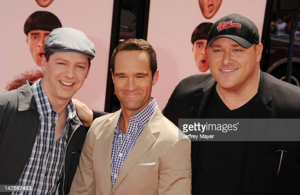Sean Hayes Chris Diamantopoulos and Will Sasso attend the Los Angeles premiere of 'The Three Stooges' on April 7 2012 in Hollywood United States