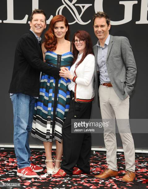 Sean Hayes Debra Messing Megan Mullally and Eric McCormack attend the 'Will Grace' start of production kick off event and ribbon cutting ceremony at...