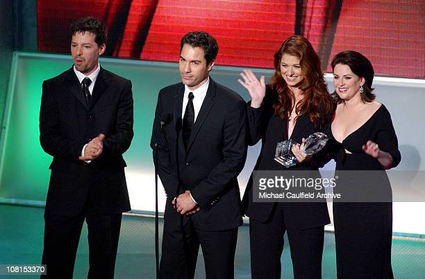 Sean Hayes Eric McCormack Debra Messing and Megan Mullally winners for Favorite TV Comedy for Will Grace