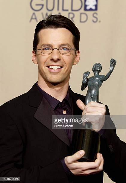 Sean Hayes wins for Outstanding Performance by a Male Actor in a Comedy Series for 'Will Grace'