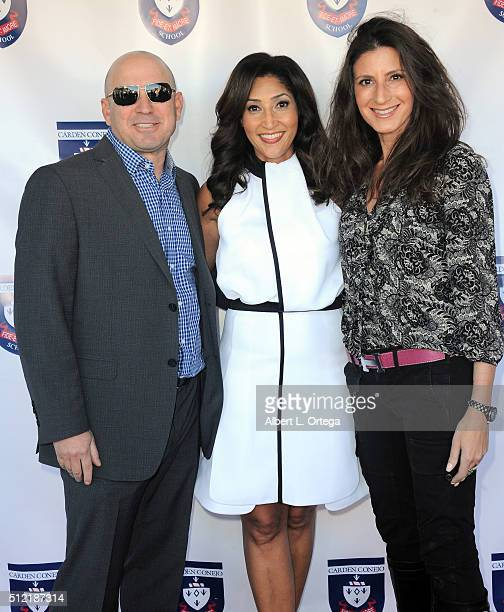 Sean Holzman actress/singer/host Bettina Bush and guest at the opening and dedication of The Charles V Bush Library held at Carden Conejo School on...