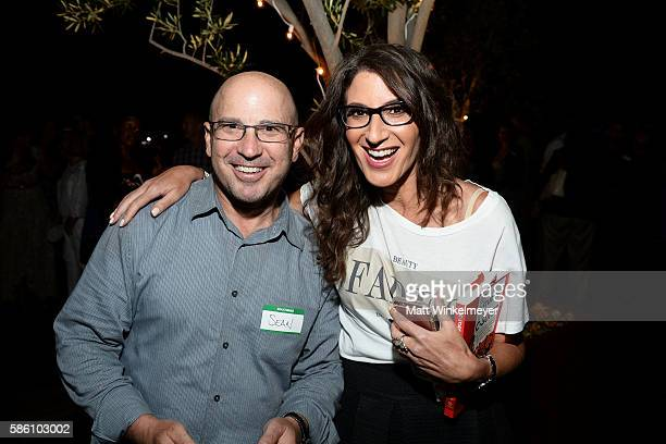 Sean Holzman and author Tami Holzman attend the book launch for 'From CStudent to the CSuite Leveraging Emotional Intelligence' at PLATFORM in Hayden...