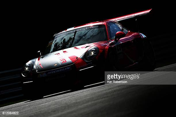 Sean Hudspeth of Parr Motorsport drives during the Porsche Carrera Cup at Brands Hatch on October 2 2016 in Longfield England