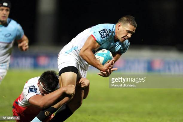 Sean Jack Robison of Bayonne during the French Pro D2 match between Aviron Bayonnais and Grenoble on September 21 2017 in Bayonne France