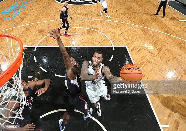 Sean Kilpatrick goes for a lay up against the LA Clippers during the game on November 29 2016 at Barclays Center in Brooklyn New York Sean Kilpatrick...