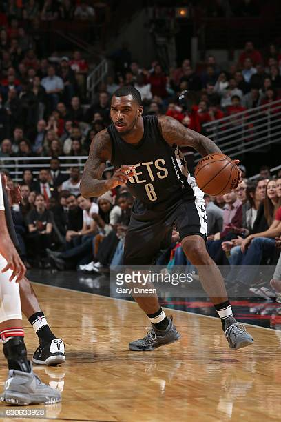Sean Kilpatrick of the Brooklyn Nets handles the ball against the Chicago Bulls on December 28 2016 at the United Center in Chicago Illinois NOTE TO...