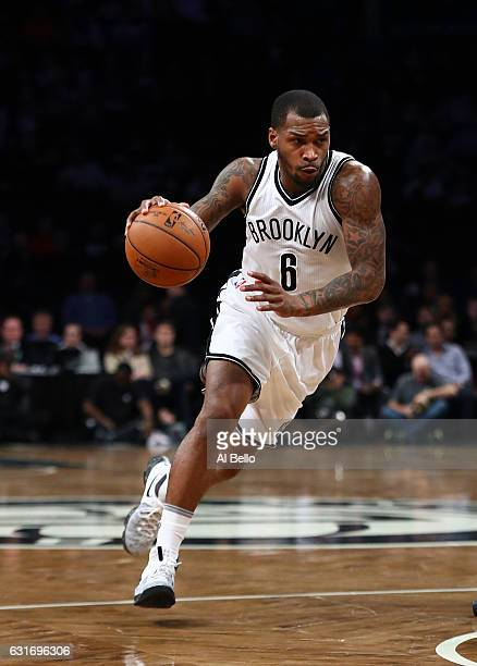 Sean Kilpatrick of the Brooklyn Nets in action against the Atlanta Hawks during their game at the Barclays Center on January 12 2017 in New York City...