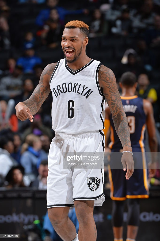 <a gi-track='captionPersonalityLinkClicked' href=/galleries/search?phrase=Sean+Kilpatrick&family=editorial&specificpeople=7444970 ng-click='$event.stopPropagation()'>Sean Kilpatrick</a> #6 of the Brooklyn Nets looks on against the Indiana Pacers on March 26, 2016 at Barclays Center in Brooklyn, New York.